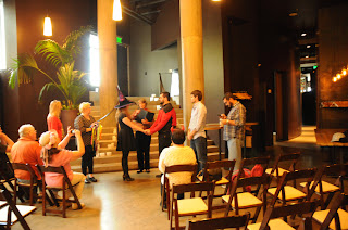 Cast Iron Studios host for Phillip & Denise's wedding rehearsal.  Patricia Stimac, A Heavenly Ceremony, wedding officiant