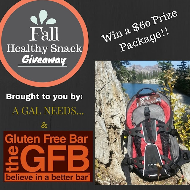 Enter the Fall Healthy Snacks Giveaway. Ends 10/3.