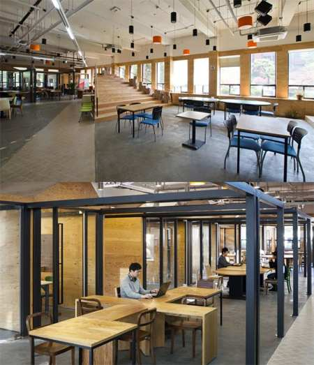 this is the head office of asb north wharf this office design created