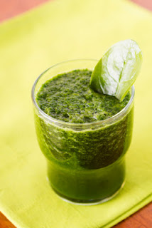 Maca root in green smoothie