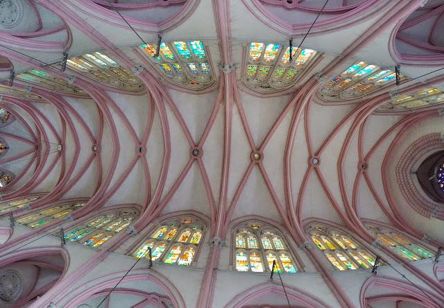 Our Lady of Lourdes Church Tiruchirappalli ceiling trichy