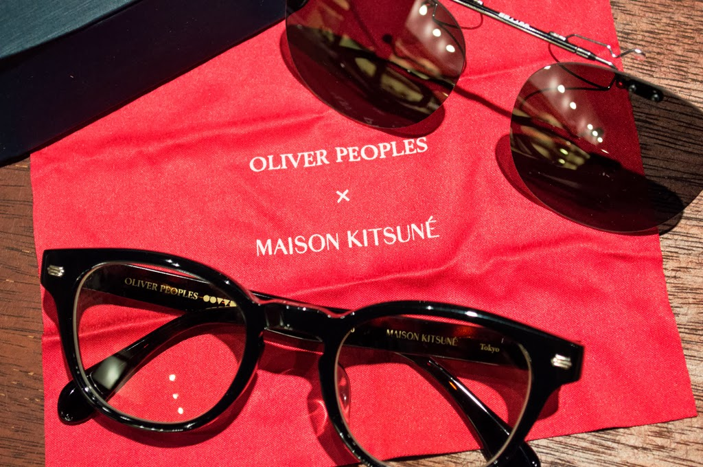 Crossover maison kitsune x oliver peoples collection for Oliver peoples tokyo