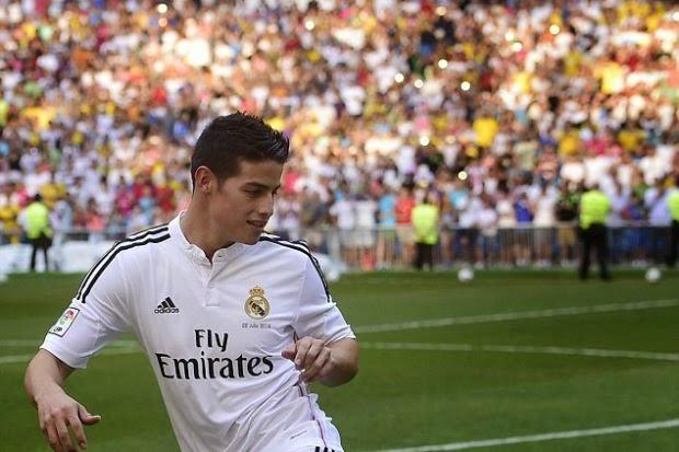 James Rodriguez Diperkenalkan Sebagai Pemain Real Madrid
