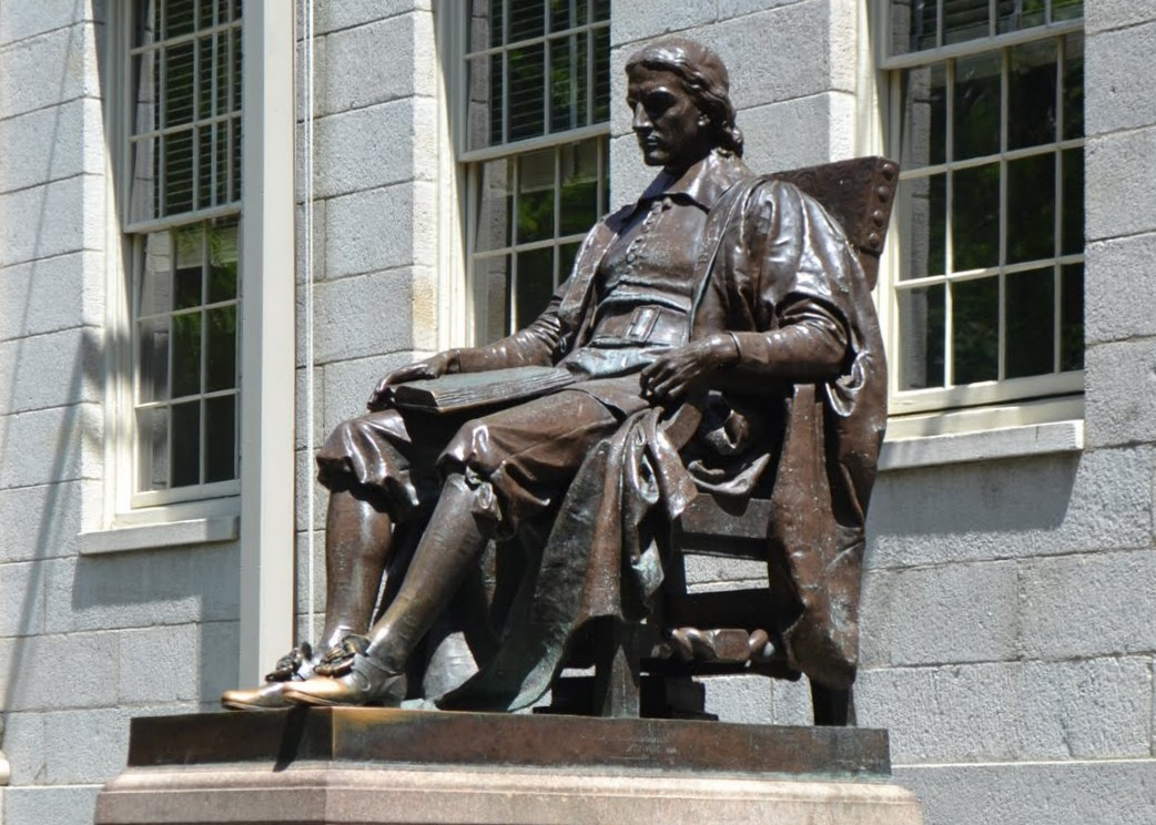 statue, john harvard, harvard, university, cambridge, massachusetts