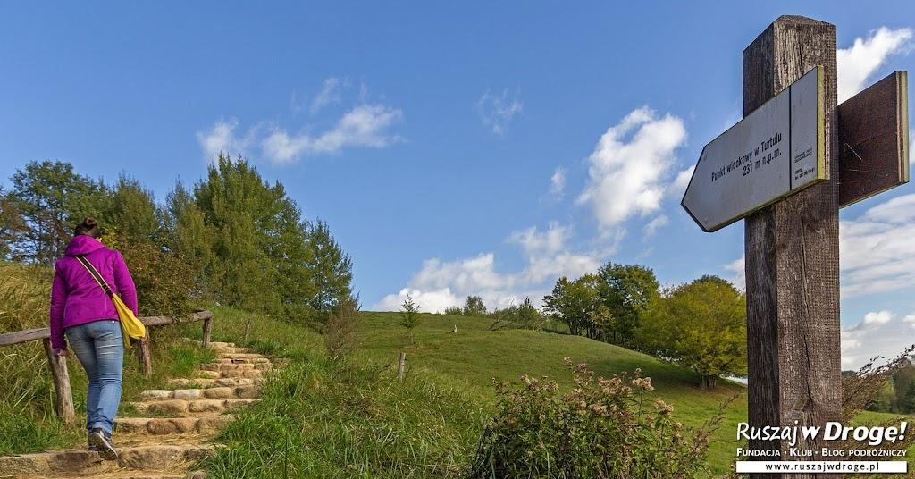 Suwalski Park Krajobrazowy - Wejście na punkt widokowy w Turtulu