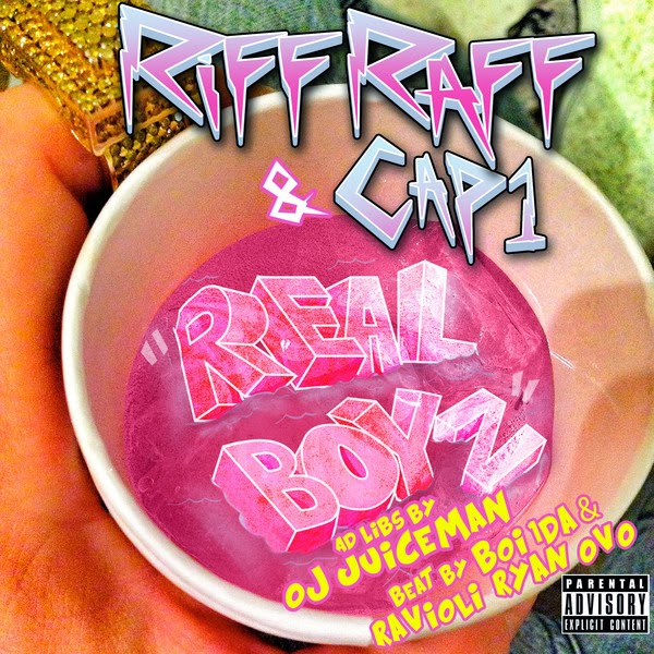 "Riff Raff - ""Real Boyz"" (feat. Cap1 & Oj da Juiceman) - Single  Cover"