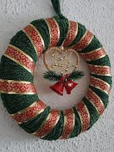 Corona de Navidad a crochet