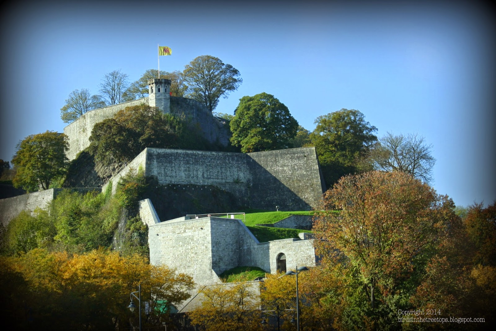 Namur, Belgium, Roman, Citadel, Mountain, Autumn,