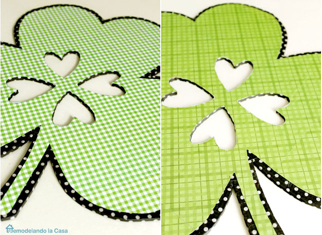 two sided shamrock wall hanging for St. Patrick's day