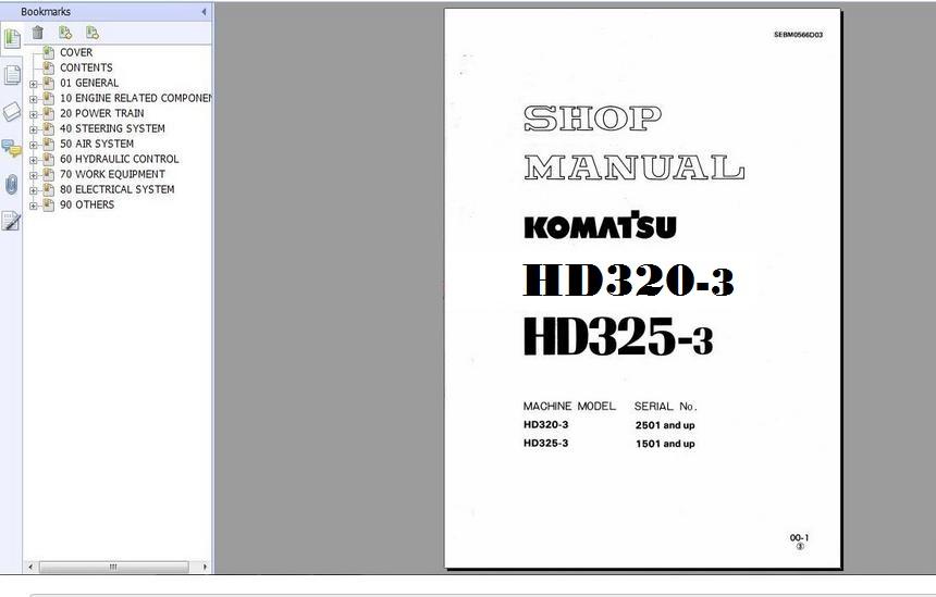 komatsu pc25 1 shop manual