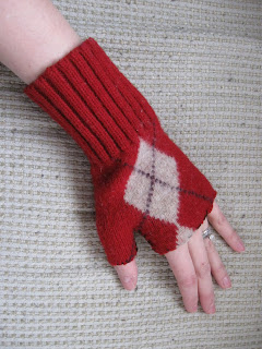 Old Sweater Fingerless Gloves