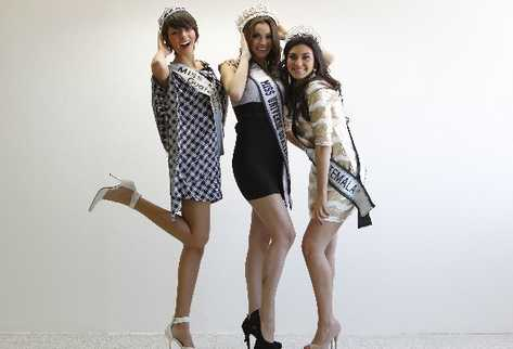 Monique Georgette Aparicio,Christa Garcia,miss guatemala 2011 semifinalists