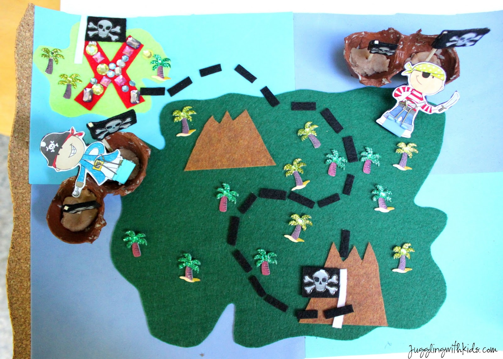 Interactive Pirate Treasure Map on Craft Of The Day Rainbow Fish
