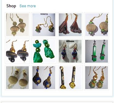 Bead Earrings in Etsy Shop Glorious Confusion