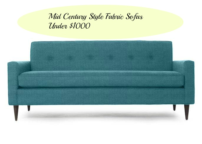 Super Affordable Button Back Mid Century Sofas