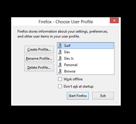 how to delete firefox profile