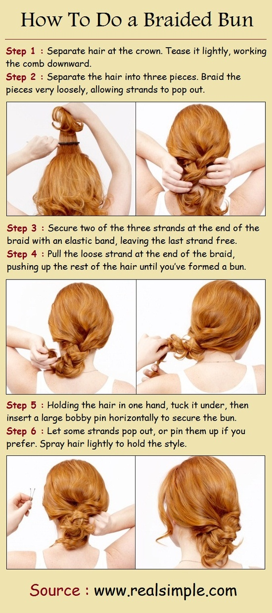 how to do twist hairstyles : Pinterest Hairstyles: How To Do a Braided Bun