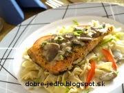 Filet z lososa so šampiňónovou omáčkou - recept