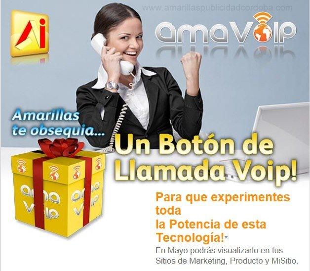 AMARILLAS INTERNET-BOTON VOIP