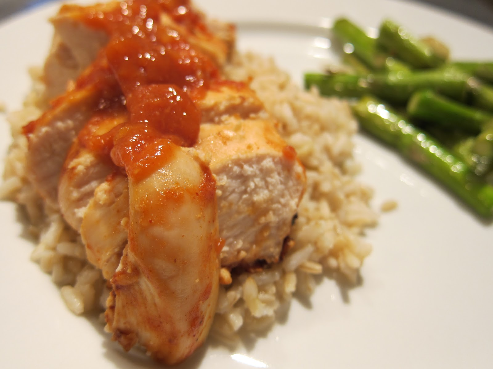 Belle's Baking: Grilled Chicken with Peach BBQ Sauce