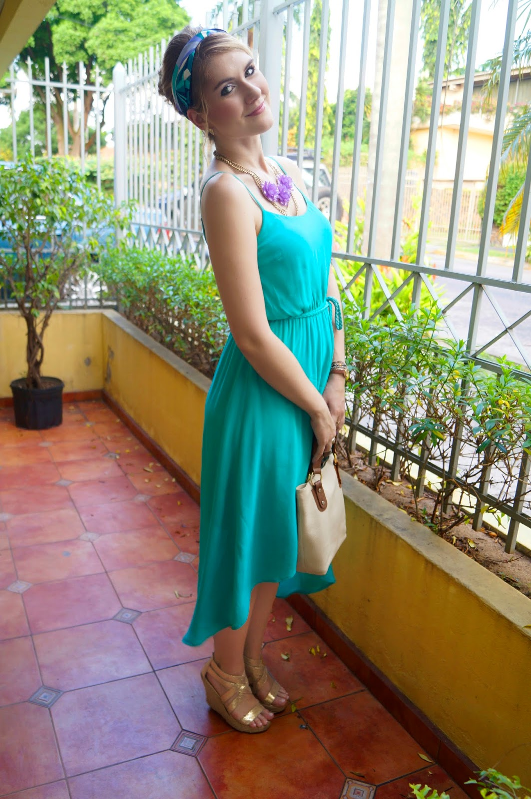 fashion blog, spring fashion, summer fashion, spring outfits, fashion blog, turquoise dress outfit, forever21 dress, kenneth cole wedges