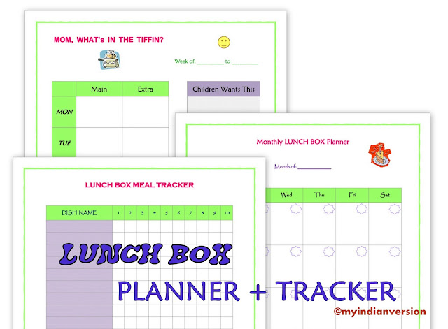 Lunch Box Planner and Tracker FREE Printable