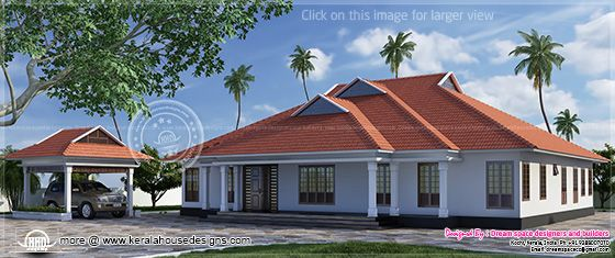 Single storey Kerala villa