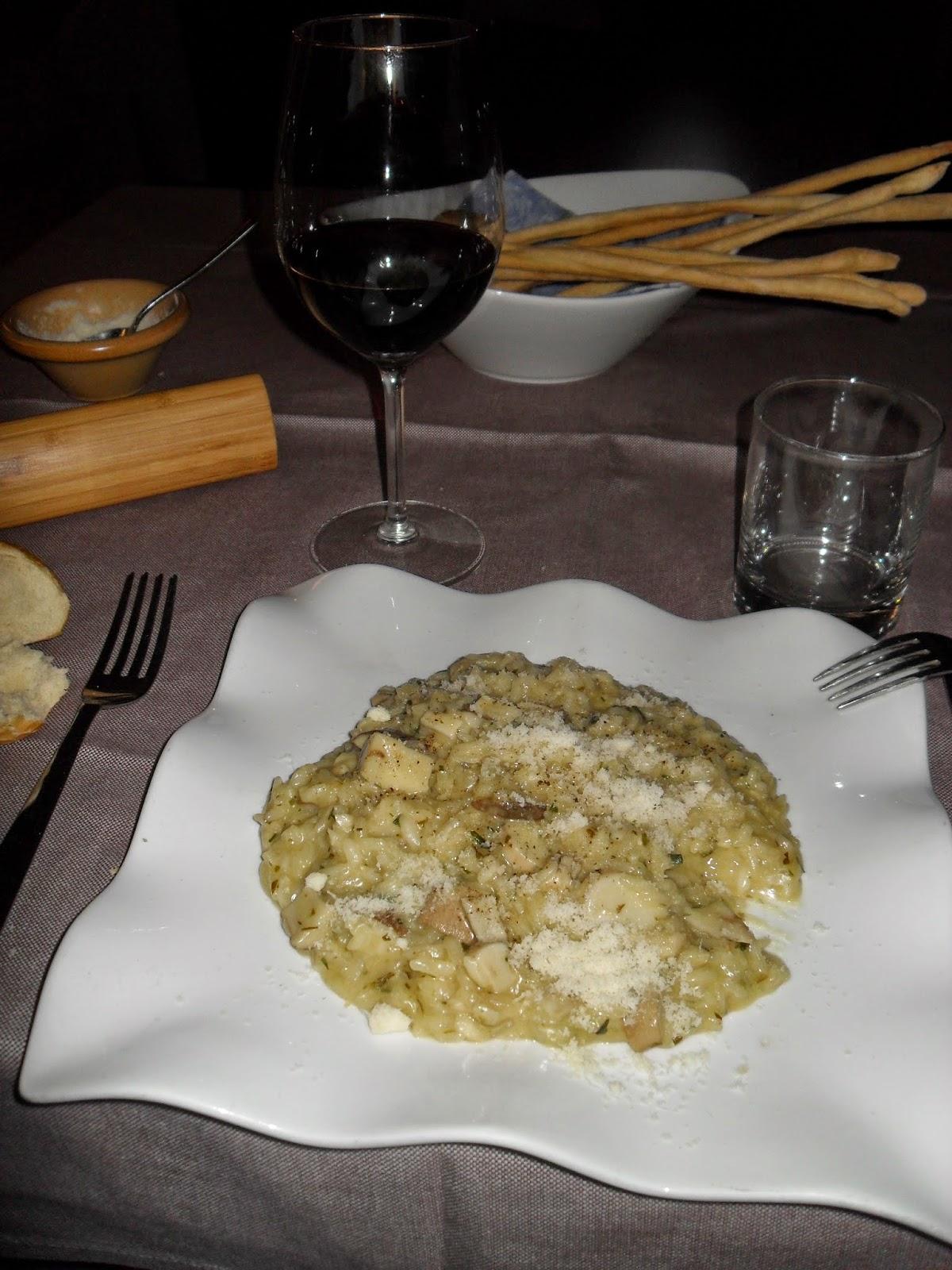 Risotto con Funghi Porcini, Barbera d'Asti, Asti