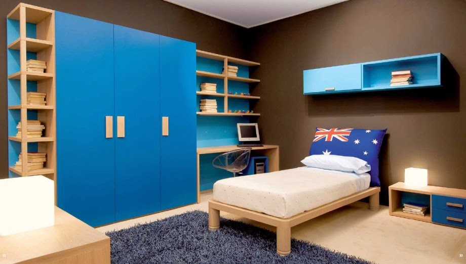 cool blue kids room design blue boys bedroom