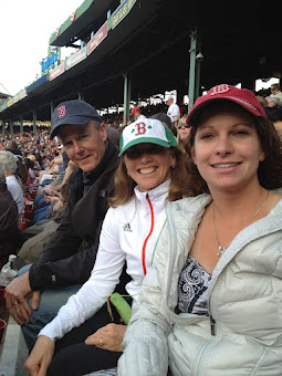 Deb, Rob and Wendy enjoying a Red Sox game getting ready for record Heat!