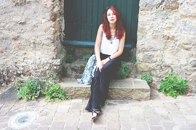chanel bag, drop dead, enjoyk, h&m, minimalist outfits, Newloook, ootd, palmier, red hair, Sarthe, save the friday, tropical outfits, urban outfits, summer outfits, miss guided, sandal newlook,