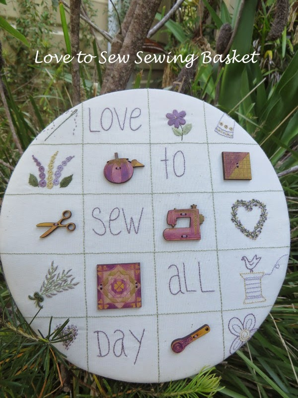 Love to Sew Basket