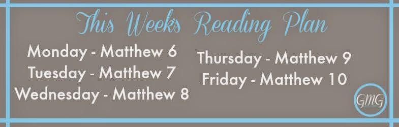 Matthew Reading Plan