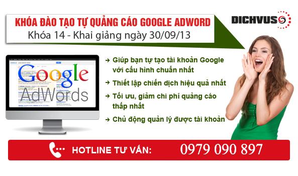 đào tạo quảng cáo google adwords
