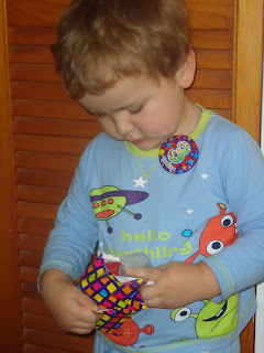 Baby Boy Opening Birthday Gifts