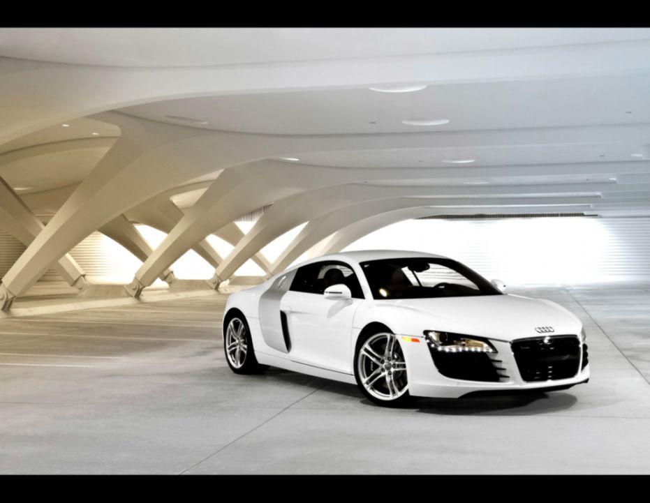 white audi r8 wallpaper  Popular Cars