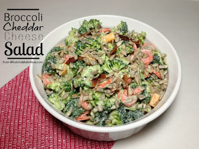 Broccoli Cheddar Cheese Salad