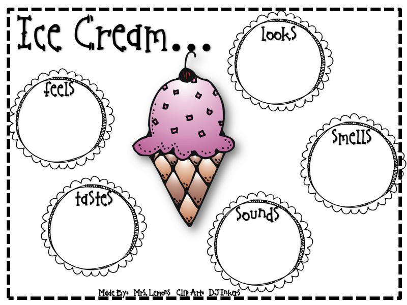 ice cream writing paper