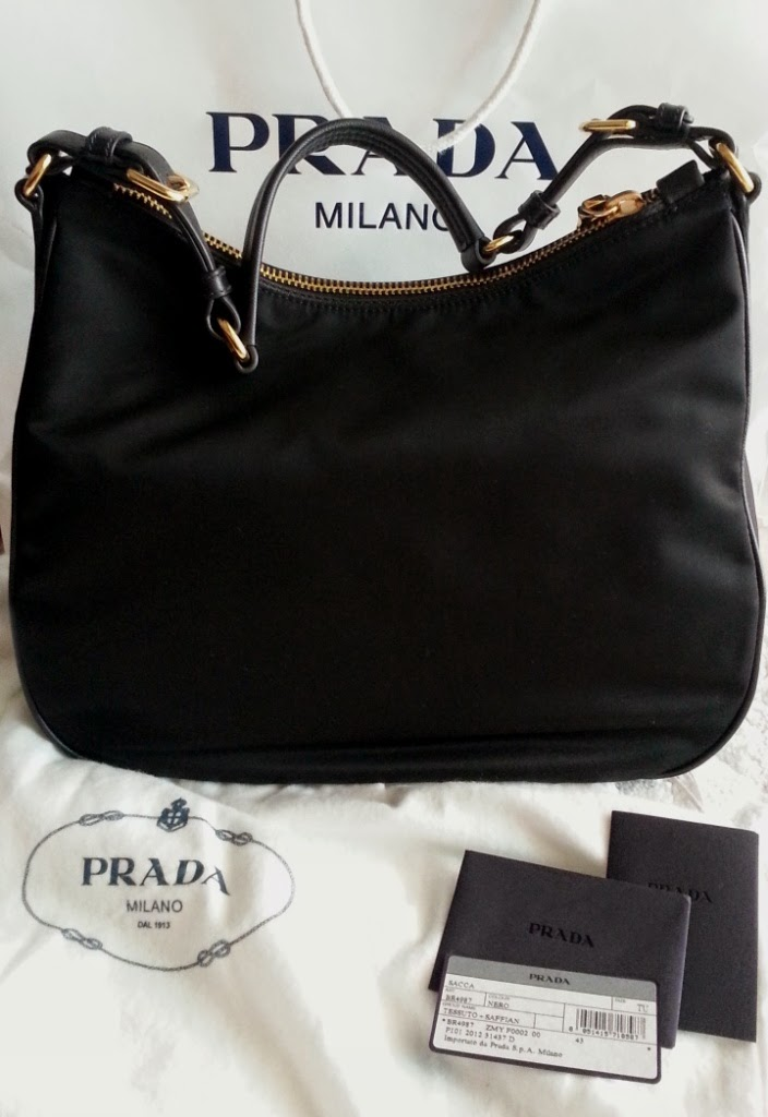 prada tessuto leather-trimmed shoulder bag