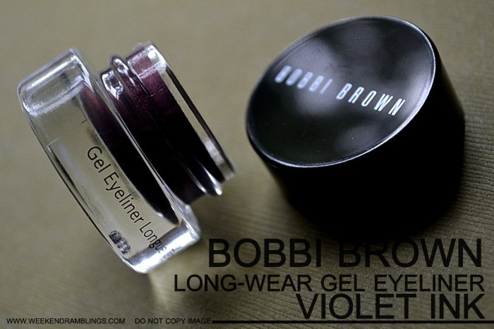 Bobbi Brown Makeup Long Wear Gel Eyeliner Violet Ink Indian Beauty Blog Reviews Swatches Ingredients How to Use FOTD Looks