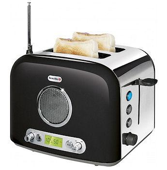 Brödrost med radio
