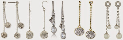 Monet Jewelry Crystal Linear Drop Earrings $14.00 (regular $20.00)  Bridge Jewelry Sterling Silver Crystal Ball Linear Drop Earrings $16.80 (regular $42.00)  Betsey Johnson Pretty Punk Pearl Drop Earrings $20.00 (regular $40.00)  Michael Kors Pave Disc Drop Earrings $59.00 (regular $85.00)  Majorica Double Drop Pearl Earrings $70.00 (regular $100.00)