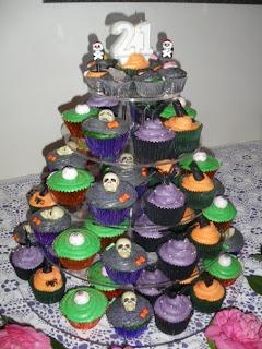 Amazing Halloween Birthday Cupcakes