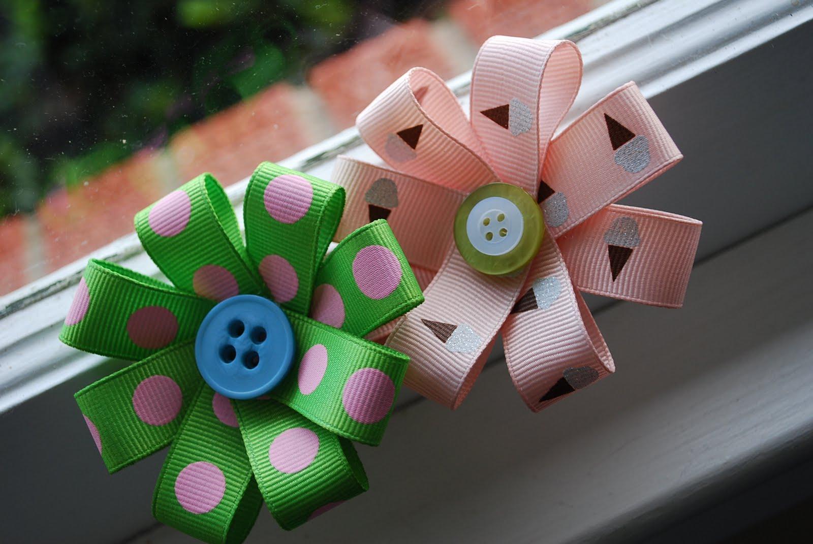 折り紙の 折り紙のリボンの折り方 : Easy Hair Bow