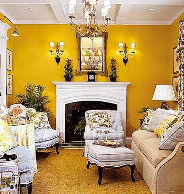 Decorar Sala em Amarelo