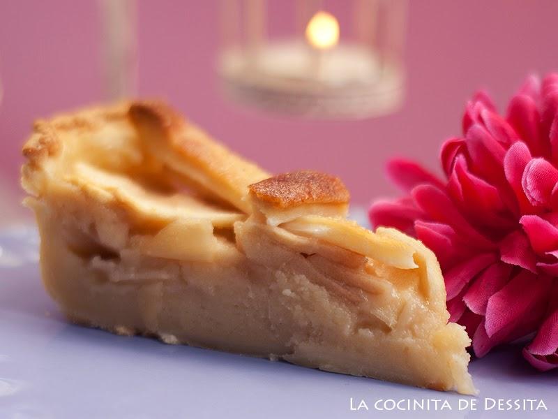 tarta de manzana con compota