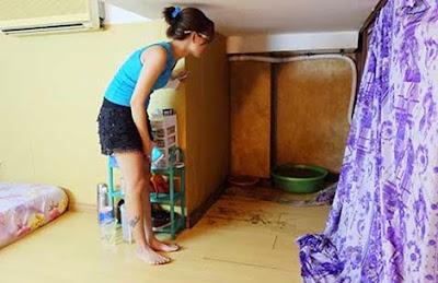 chung cư cũ, chung cư xuống cấp, chung cư bị mất nước, hệ thống thoát nước