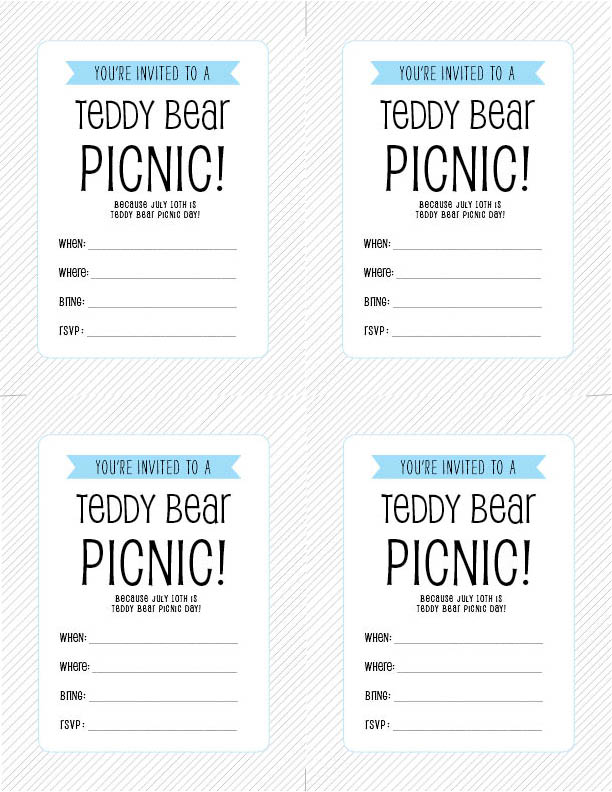 Free printable july 10th is teddy bear picnic day designs by free printable july 10th is teddy bear picnic day filmwisefo