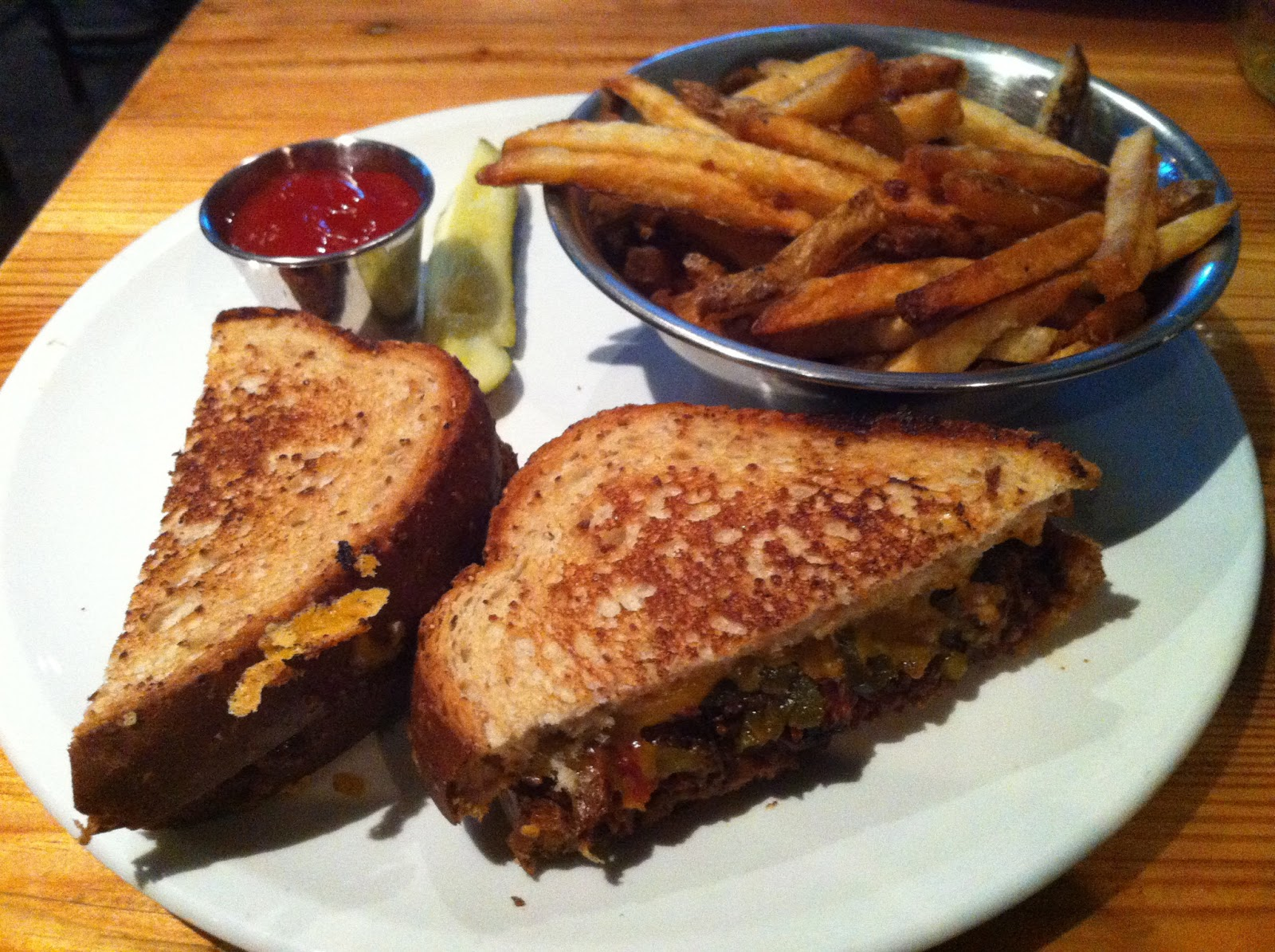 Nodding Donkey BBQ Brisket Grilled Cheese Dallas Barbecue Barbeque Bar-B-Que
