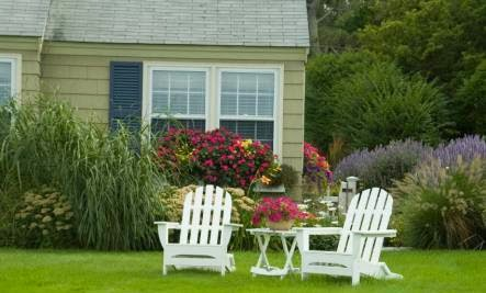 Your Home Is a Living Organism - garden front back yard chairs fresh open air